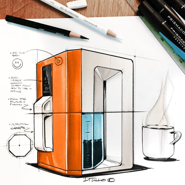 coffee maker ideation sketch