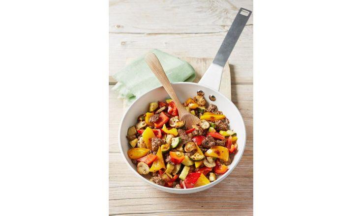 Hackfleisch-Gemüse-Pfanne