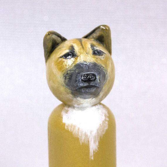 GluePaperScissorShop Unique Gift Gift for Girlfriend Pet Portrait Peg Doll