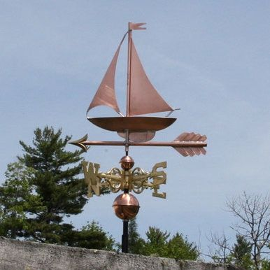 SWEN Products Hand Made Clipper Ship Nautical Side Mount Weathervane ~New~