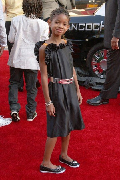 Later in the month, Willow attended yet another premiere, this time for her father's movie Hancock. The fun ruffle on this dress is very Lanvin (in miniature).