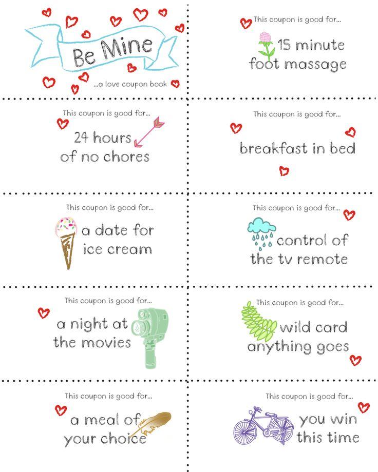Christmas coupon book ideas for boyfriend