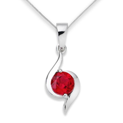 Ruby-Necklace-9ct-White-Gold-Created-Ruby-Pendant-45cm-Chain-by-Miore-UNI004P1W-0