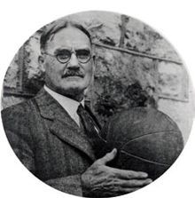 James Naismith with a basketball.jpg - invented the game of basketball