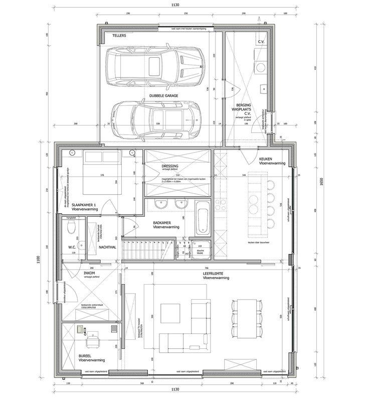 25 beste idee n over moderne woningplannen op pinterest for Kostprijs huis bouwen zonder grond