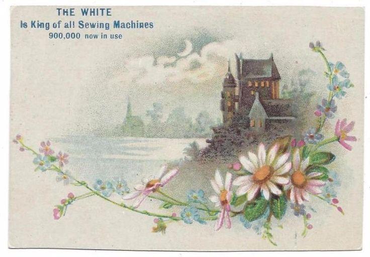 White Sewing Machine Co - Trade Card - 1888 Centennial Exposition Cincinnati, OH