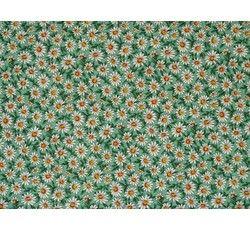 Bavlněné látky - bavlněná látka zelená kytička 277