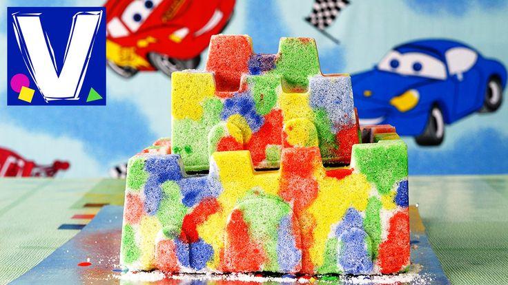 Развивающее видео для детей. Делаем замок из соли и разукрашиваем его разноцветными красками. Очень просто, минимум материала и затрат, процесс изготовления ...