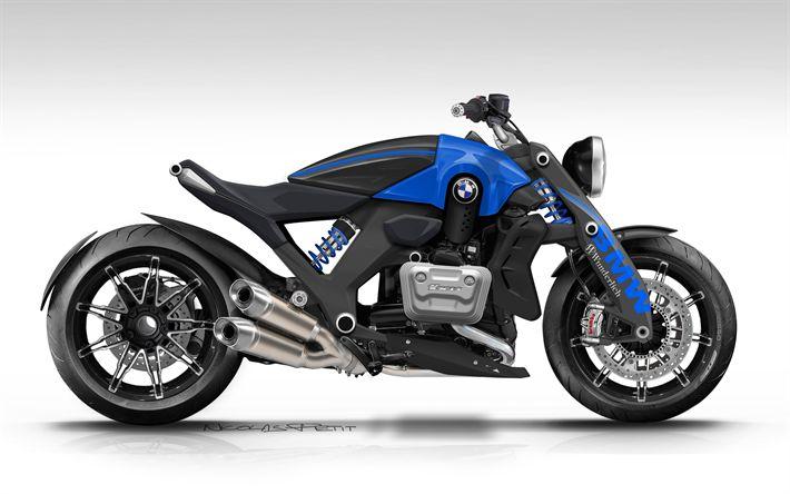 Descargar fondos de pantalla BMW R1600C, 4k, en 2017, motos, Caprichoso, tuning, motos deportivas, BMW