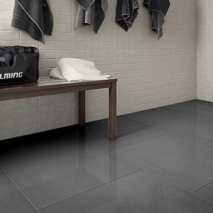 Super Polished Dark Grey Porcelain Floor Tiles Gray Porcelain