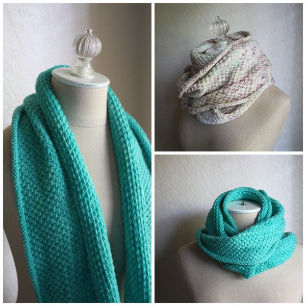 Knit Patterns For Infinity Scarf : Phydelle Infinity Scarf / Cowl Knitting Pattern
