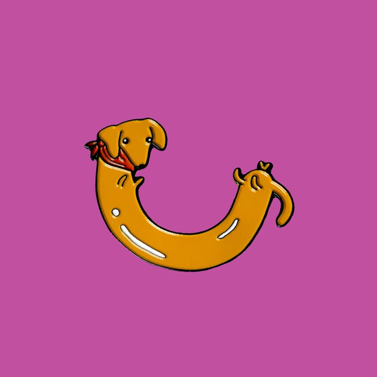 Sausage Dog Enamel Pin // too cute to eat, from PinstaPals.com