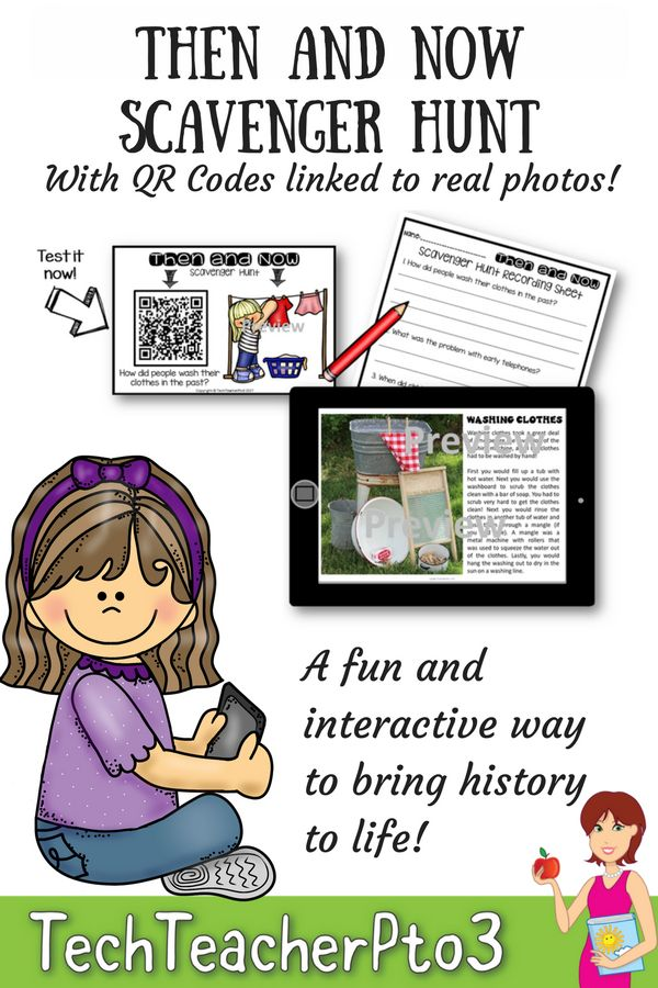 Are you looking for a fun and engaging activity to bring history to life in your classroom? This scavenger hunt activity allows you to integrate ICTs into your classroom in a meaningful way, whilst students are learning.   QR codes link to real photographs of historical items, with a description of their use. Questions on the recording sheets, aim to move students to higher order thinking and allow them to apply historical knowledge and understanding. #teacherspayteachers #history #teaching