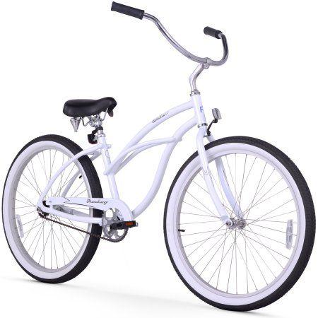 26 inch Firmstrong Aluminum Frame Urban Lady Alloy Single Speed Women's Beach Cruiser Bike, White