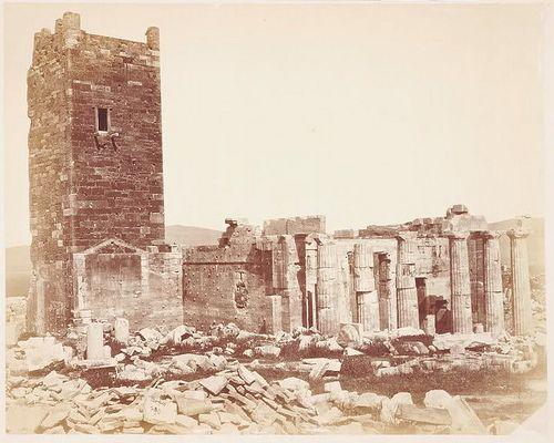 1870, Ακρόπολη, Φράγκικος Πύργος και Προπύλαια