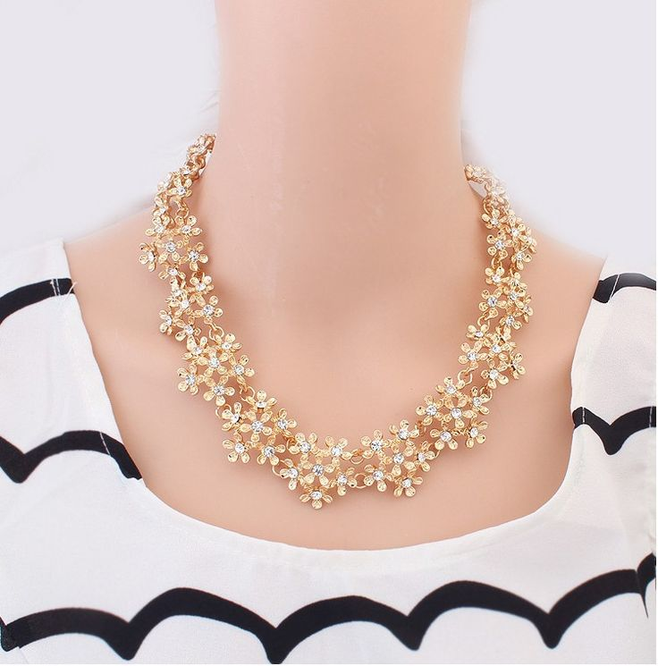 2015 Top Fashion Trendy Collares Colares Femininos Collar Min. Order Is $10(mix) New Retro Metal Flower Necklace Free Shipping -in Choker Necklaces from Jewelry on Aliexpress.com   Alibaba Group
