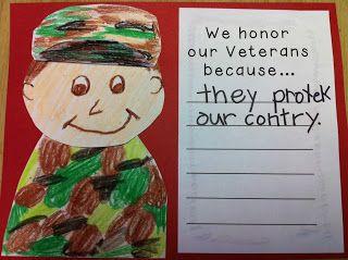Kindergarten Kids At Play: Kindergarten Veterans Day Lesson Plan K