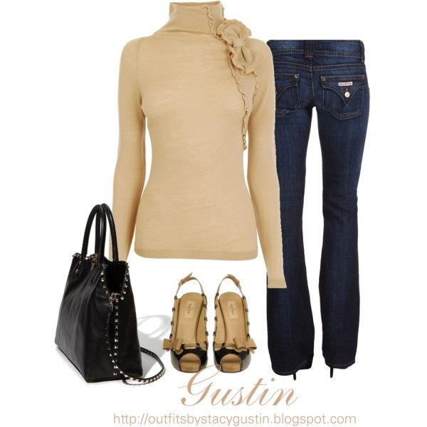 """""""a little valentino"""" by stacy-gustin on Polyvore: Dreams Closet, Sweaters Dresses, Beautiful Fall, Cute Fall Outfit, Jeans Outfit, Cute Outfit, Casual Dresses, Dark Denim, Closet Snooz"""