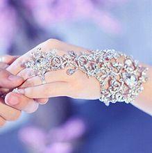 Il nuovo vestito da cerimonia nuziale accessori braccialetto chain con strass gioielli da sposa bridemaid accessori a mano bracciali e braccialetti(China (Mainland))