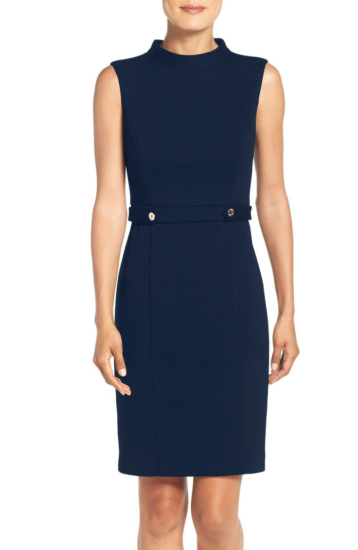 I've said it before and I'll say it again: the knit sheath dress is a working girl's best friend...