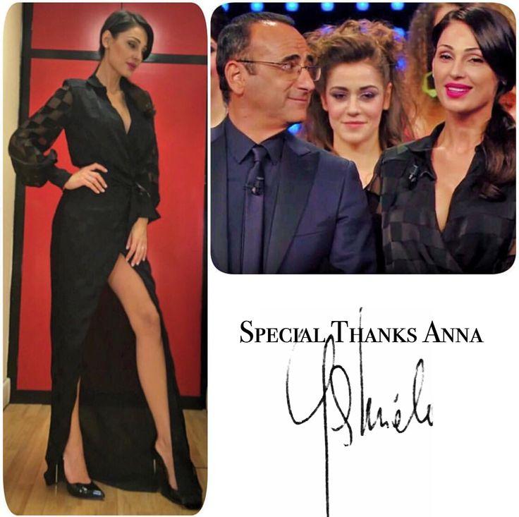 Anna Tatangelo wears GABRIELE FIORUCCI BUCCIARELLI