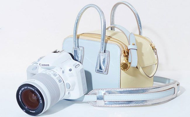 Must have accessory for fashionable photogs: @StellaMcCartney x Canon - Limited Edition Linda Bag/Camera Combo #Fashion #Photography