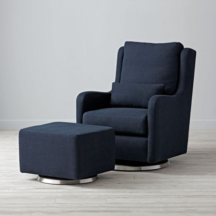 Park Art My WordPress Blog_Navy Swivel Chair With Ottoman