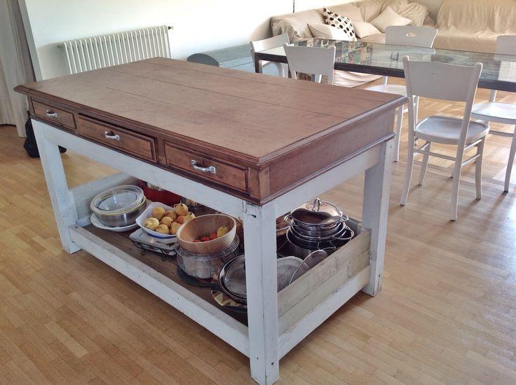 oltre 25 fantastiche idee su scrivania in legno di recupero su ... - Mensole Con Legno Vecchio