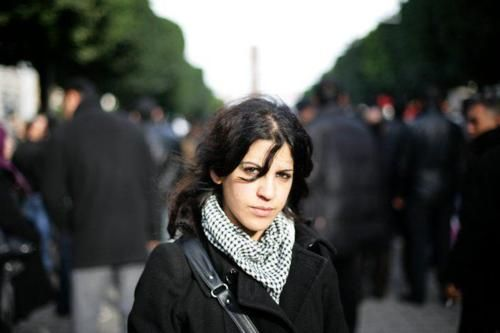 Lina Ben Mhenni , Tunisian activist and  Nobel Peace Prize nominee for her contributions and activism during the Tunisian Revolution...God Bless Her & Keep Her Safe.