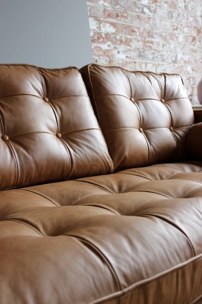A Buttoned Tan Leather Haggerston Adds Warmth And Texture To Any Space Shop All Sofa Pronto Pieces A Sofa Handmade Leather Interior Design Modern Sofa Designs