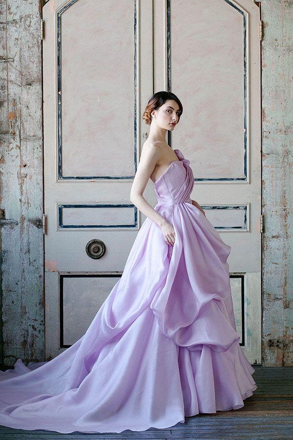 Sareh Nouri Spring 2015 Bridal Collection Lilac Gown Lavender