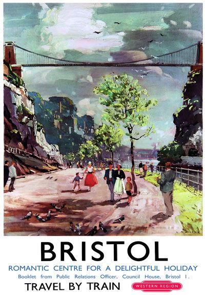 Bristol British Railways Travel Poster