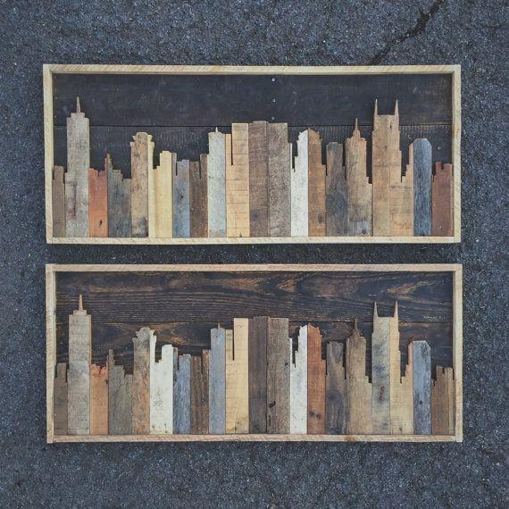 Horizonte de Nashville Tennessee rústico de madera por crtcreative