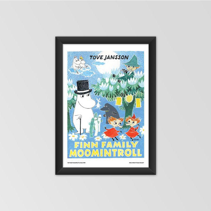 Moomin poster - Finn Family Moomintrollby Tove Jansson #moomin