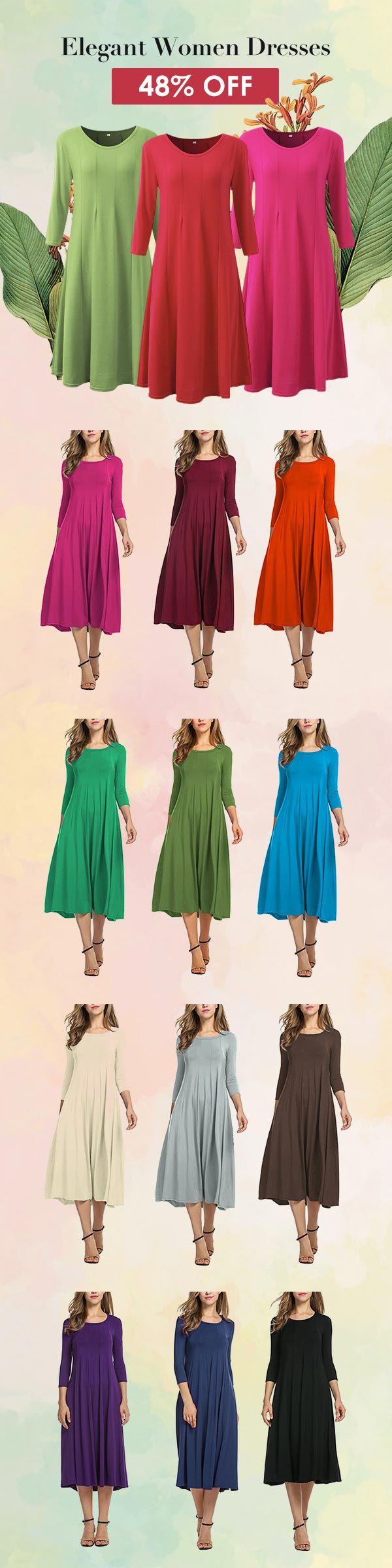 [Newchic Online Shopping] 48%OFF Elegant Women Dresses