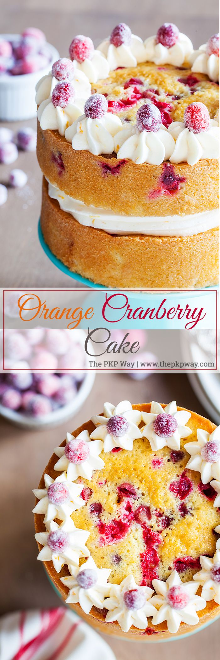 Infused with orange flavor and studded with juicy cranberries, this Orange Cranberry Cake is the perfect festive dessert for your Thanksgiving and holiday tables.