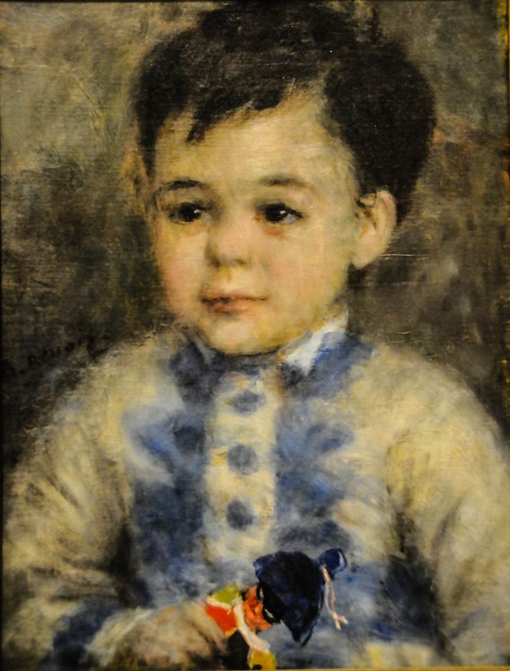 Pierre Auguste Renoir - Boy with a Toy Soldier (Portrait of Jean de La Pommeraye), 1875 at the Museum of Art Philadelphia PA | Pierre Auguste Renoir - Boy with a Toy Soldier (Portrait of Jean de La Pommeraye), 1875 at the Museum of Art Philadelphia PA