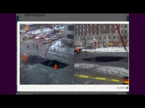 MASSIVE Ottawa Canada Sinkhole