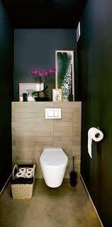 Des toilettes cosy en bois et bleu nuit
