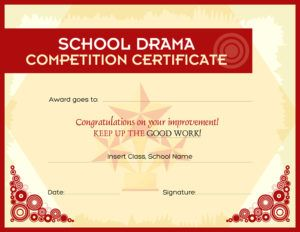 133 best certificates images on pinterest award certificates school drama competition award certificate template for ms word download at httpcertificatesinn yelopaper Choice Image