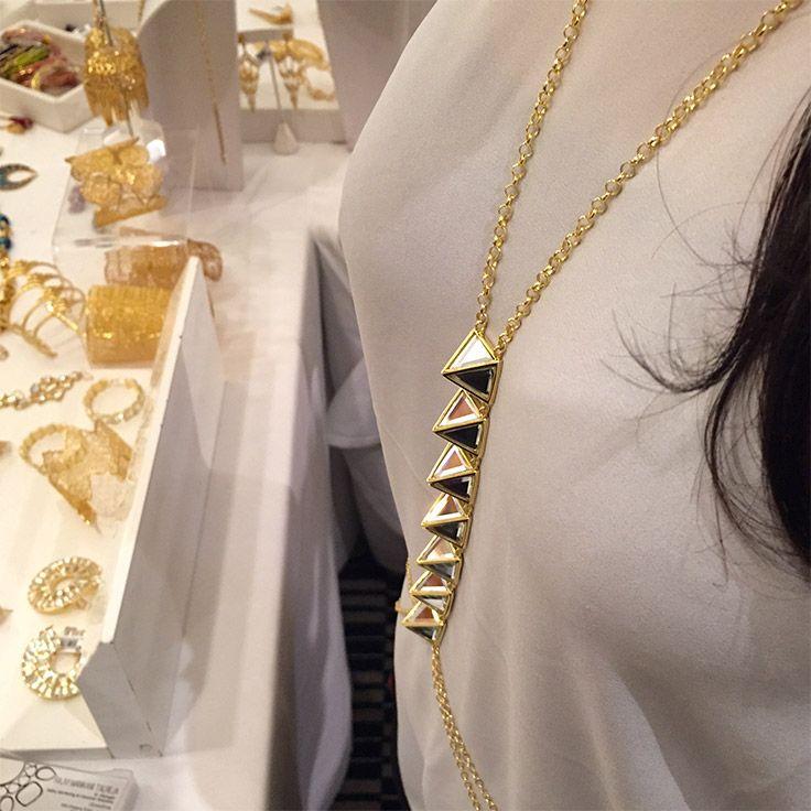 ISHARYA Pyramid Mirror body chain at Serendipity Mumbai 2015