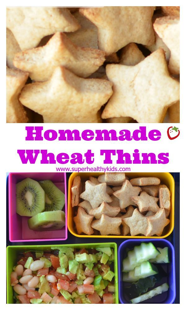 ... Wheat thins! http://www.superhealthykids.com/homemade-wheat-thins-for
