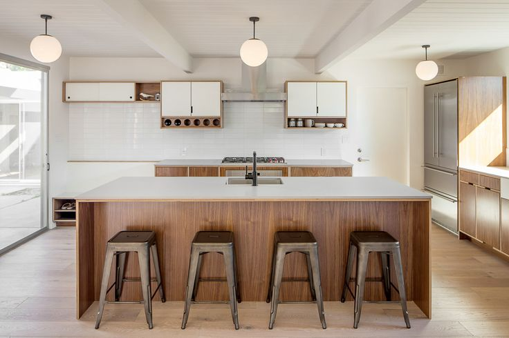Kitchen Island With Kerf Lines