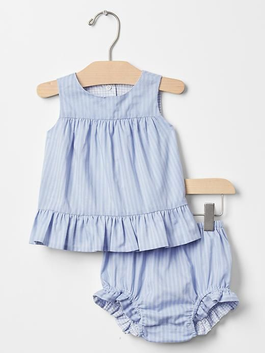 Reversible two-piece romper