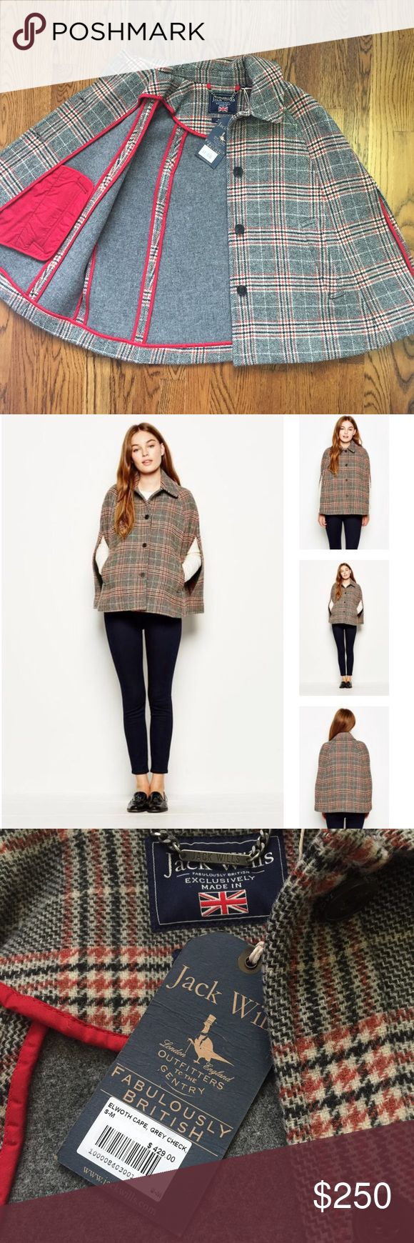 Jack Wills cape 100% wool Size S-M. 100% wool. Premium quality. Jack Wills Jackets & Coats Capes