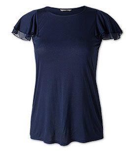 Rüschen-Shirt in der Farbe dunkelblau bei C&A