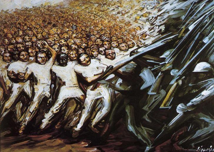 David Alfaro Siqueiros: Struggle for Emancipation (1961)  Art Experience NYC  www.artexperiencenyc.com
