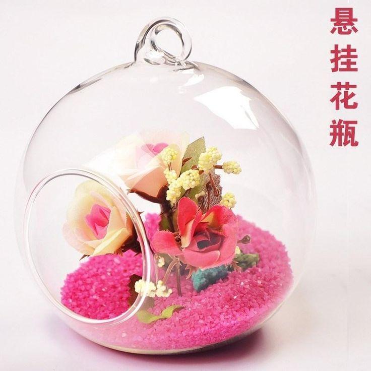 современные висячие ясно, плоскодонные хрусталя вазы цветочные шары террариум вазы для свадьбы украшения