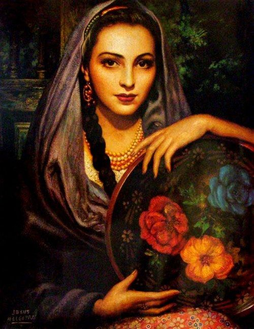 By legendary Mexican painter, Jesús Helguera [1912-1971]
