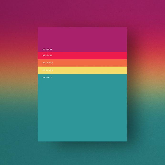 Minimalist Color Palettes 2015 on Designspiration